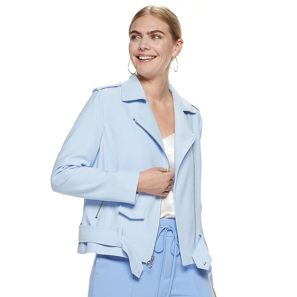 Women's Nine West Crepe Moto Jacket
