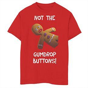 Boys 8-20 Shrek Gingerbread Man Not The Gumdrop Buttons Tee