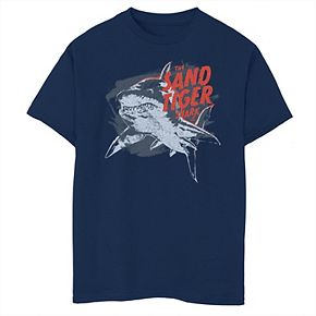 Boys 8-20 Shark Week The Sand Tiger Shark Distressed Portrait Tee