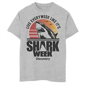 Boys 8-20 Shark Week Live Every Week Like It's Shark Week Retro Tee