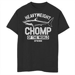 Boys 8-20 Shark Week Heavyweight Chomp Of The World Logo Tee