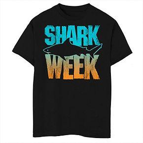 Boys 8-20 Shark Week Blue And Orange Gradient Tee