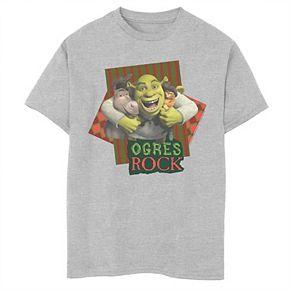 Boys 8-20 Shrek The Third Ogres Rock Best Friends Group Tee