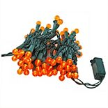 Lumabase Electric String Lights & Orange Plastic Globe Lights