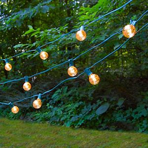 Lumabase Electric Globe String Lights & 25 Gold Mercury Lights