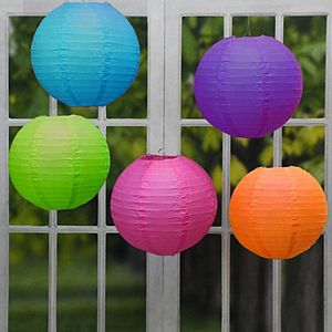 Lumabase Battery Operated String Lights & 10 Nylon Lanterns