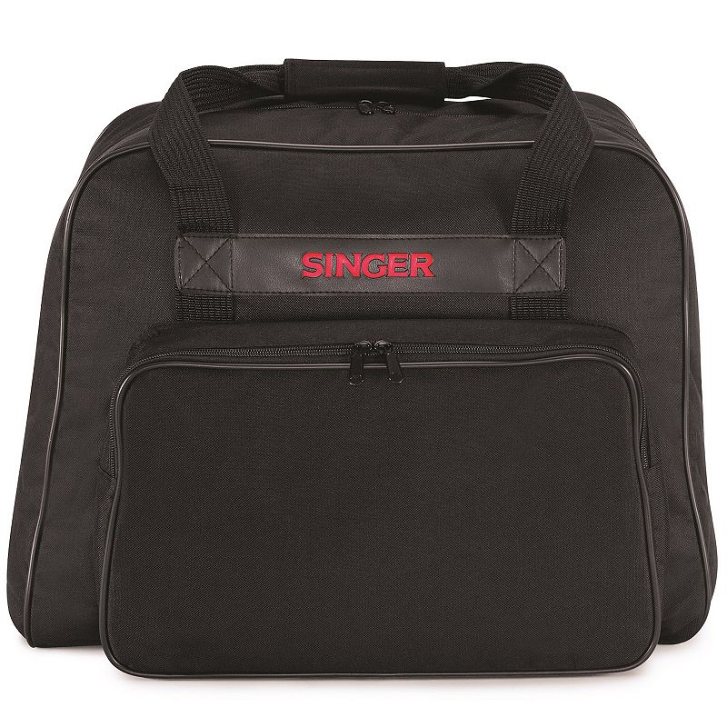 Singer Soft Side 617 Sewing Machine Carrying Case, Black Protect your sewing machine on the go and at home with the Singer Soft Side 617 Sewing Machine Carrying Case. Protect your sewing machine on the go and at home with the Singer Soft Side 617 Sewing Machine Carrying Case. This is a protective carrying case for a sewing machine The full zip makes it easy to get your sewing machine in and out The padded carrying handles can be joined for a more secure hold- designed to offer safe, dust-free storage of your sewing machine or kits, also protect from bumps and scratches, and impact resistant Designed as a carrying case as well as a storage bag so you can easily take your sewing machine to a class, a meetup or on holiday Safely take your sewing machine with you using the durable straps, solid plastic base and padded walls The exterior zip pocket allows you to easily store all of your accessories Fits most sergers and sewing machines 18 L x 10 W x 13 H Model no: 617L.01 Size: One Size. Color: Black. Gender: unisex. Age Group: adult.