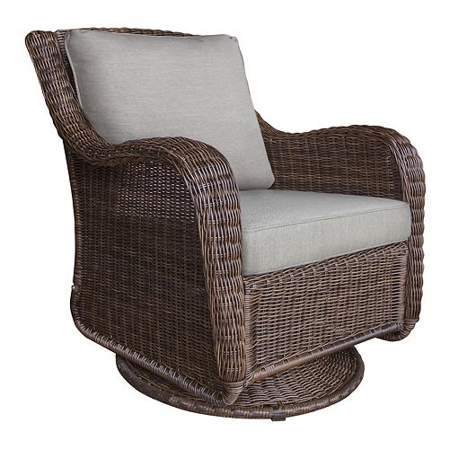 SONOMA Goods for Life® Presidio Swivel Wicker Chair