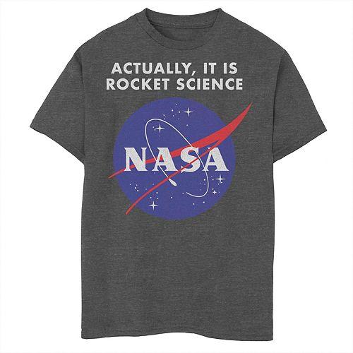Boys 8-20 NASA Logo Actually It Is Rocket Science Graphic Tee