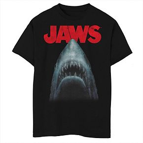Boys 8-20 Jaws Shark In Dark Waters Classic Icon Graphic Tee