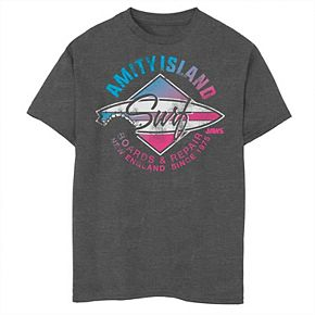 Boys 8-20 Jaws Amity Island Surf Boards & Repair Graphic Tee