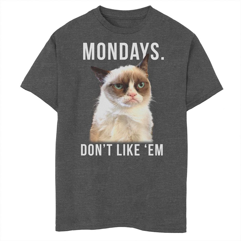 Boys 8-20 Grumpy Cat Mondays Don't Like Them Graphic Tee