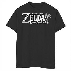 Boys 8-20 Nintendo Legend Of Zelda Links Awakening Palm Tree Logo Graphic Tee