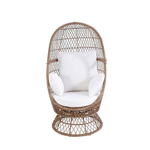 SONOMA Goods for Life® Blonde Wicker Swivel Egg Chair