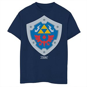 Boys 8-20 Nintendo Legend Of Zelda Links Awakening Hylian Shield Graphic Tee