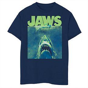 Boys 8-20 Jaws Surfacing Neon Poster Logo Graphic Tee