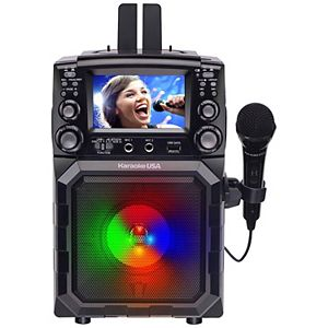 "Karaoke USA Portable CDG/MP3G Bluetooth Karaoke Player with 4.3"" TFT Color Screen and Recording Function"