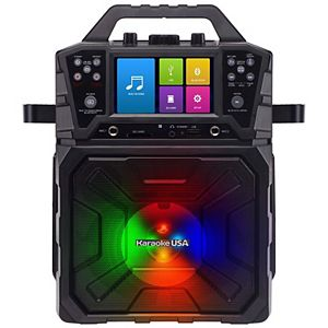 "Karaoke USA Portable Karaoke System with 4.3"" TFT Digital Color Screen and Record Function"