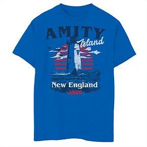 Boys 8-20 Jaws Amity Island Lighthouse Destination Graphic Tee