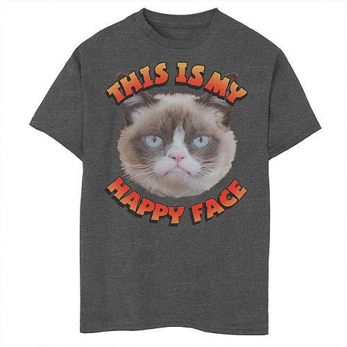 Boys 8-20 Grumpy Cat This Is My Happy Face Graphic Tee