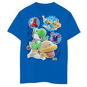 Boys 8-20 Nintendo Yoshi's Crafted World Group Shot Poster Graphic Tee
