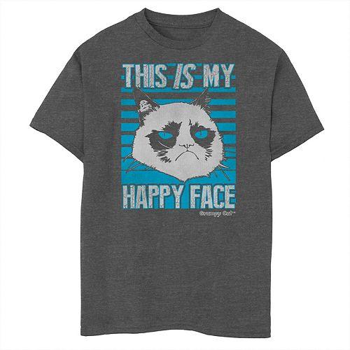 Boys 8-20 Grumpy Cat Happy Face Graphic Tee