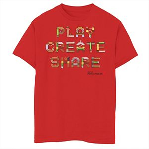 Boys 8-20 Nintendo Super Mario Maker 2 Play Create Share Build-Up Graphic Tee
