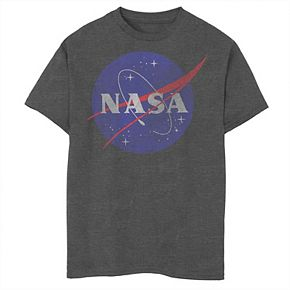 Boys 8-20 NASA Classic Blue Logo Distressed Vintage Graphic Tee