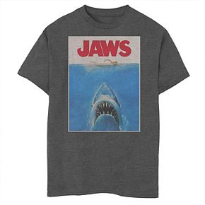 Boys 8-20 Jaws Classic Retro Shark Attack Poster Graphic Tee