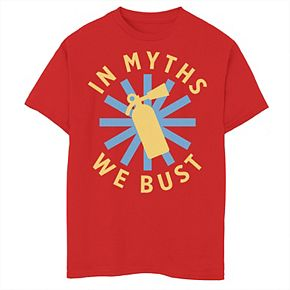 Boys 8-20 Mythbusters In Myths We Bust Circle Logo Graphic Tee