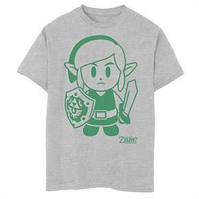 Boys 8-20 Nintendo Legend Of Zelda Links Awakening Link Green Outline Graphic Tee