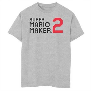 Boys 8-20 Nintendo Super Mario Maker 2 Simple Logo Graphic Tee
