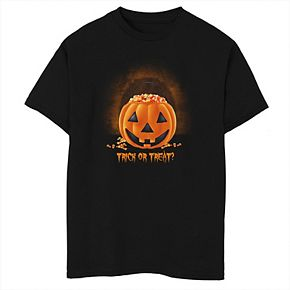 Boys 8-20 Halloween Trick Or Treat Pumpkin Candy Corn Graphic Tee
