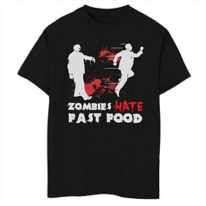 Boys 8-20 Zombies Hate Fast Food Graphic Tee