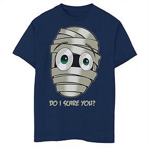 Boys 8-20 Halloween Mummy Do I Scare You Graphic Tee