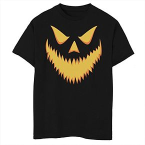 Boys 8-20 Halloween Jack-O'-lantern Scary Grin Graphic Tee
