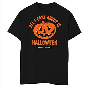 Boys 8-20 All I Care About Is Halloween Graphic Tee