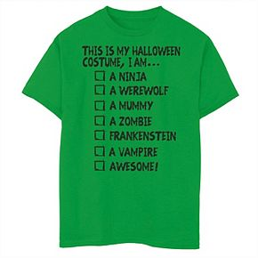 Boys 8-20 This Is My Halloween Check List Graphic Tee