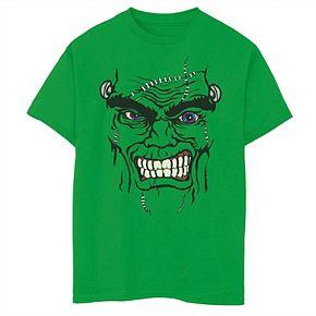 Boys 8-20 Halloween Spooky Frankenstein Face Graphic Tee