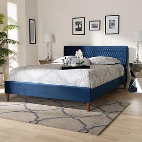 Baxton Studio Frida Navy Full Bed