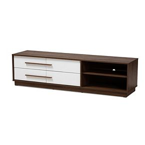 Baxton Studio Mette Medium Brown TV Stand