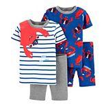 Toddler Boy Carter's 4 Piece Crab Pajama Set