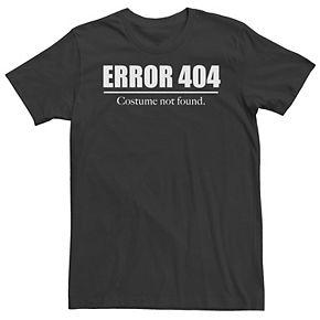 Men's Error 404 Costume Not Found Tee