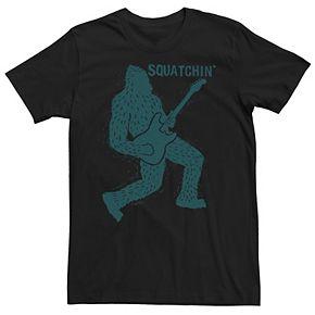 Men's Sasquatch Playing Guitar Tee