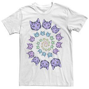 Men's Colorful Cat Spirals Tee