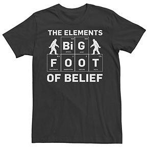 Men's The Elements Of Belief Bigfoot Tee