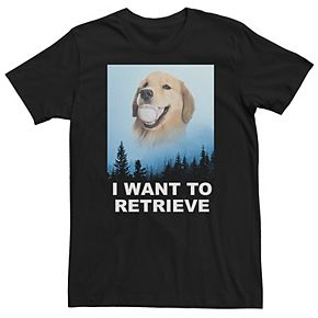"Men's Dog ""I Want To Retrieve"" Tee"