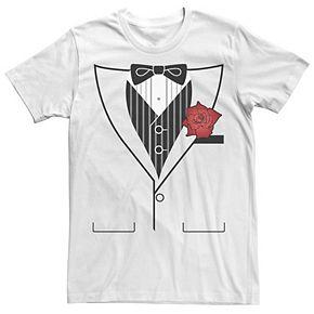 Men's Tuxedo With Rose Tee