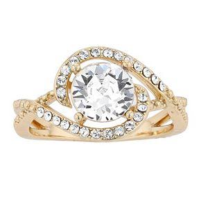 Brilliance Birthstone Swirl Ring with Swarovski Crystals