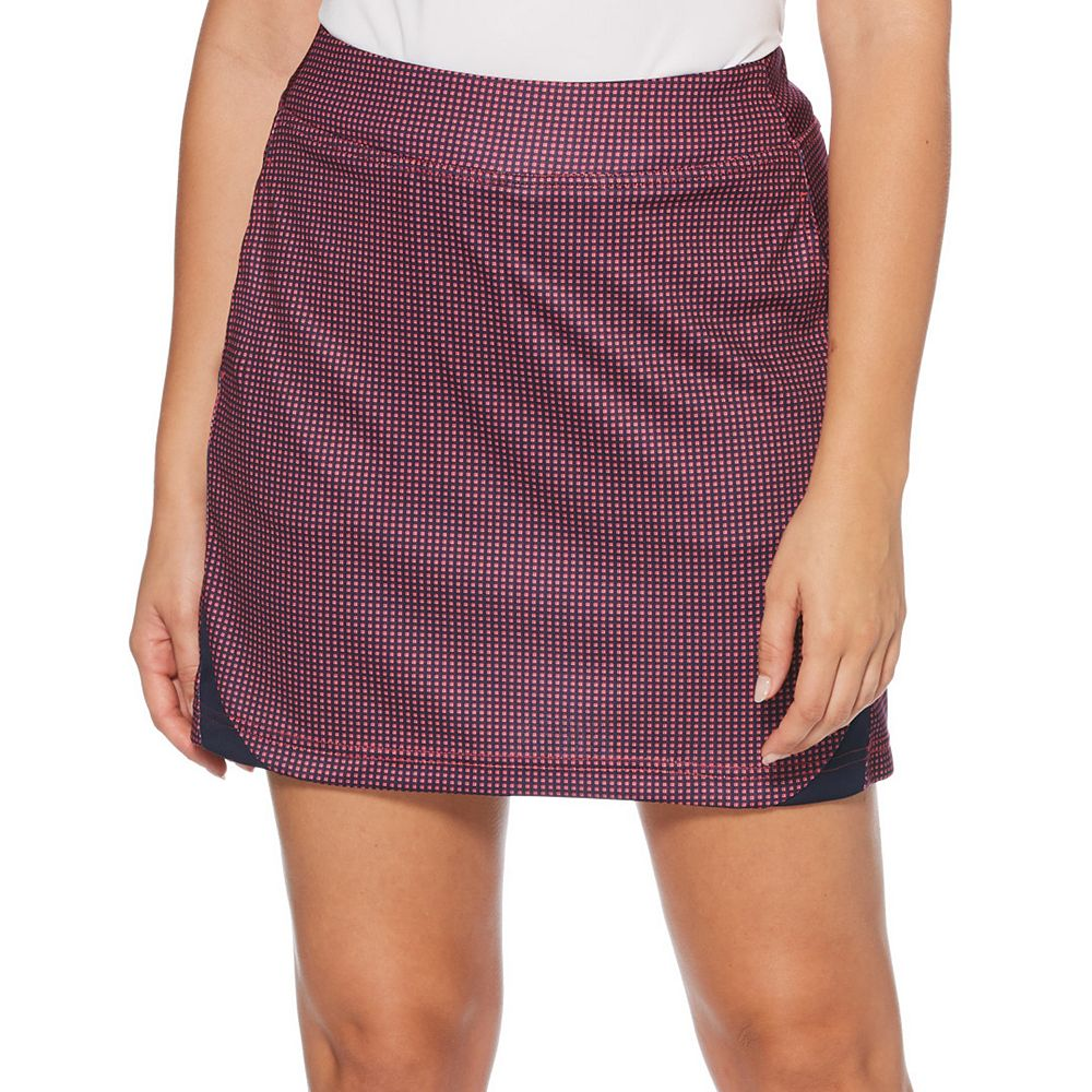 Women's Grand Slam Mini Grid Printed Skort